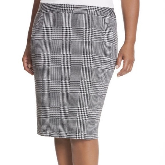Lane Bryant Dresses & Skirts - Lane Bryant Houndstooth Pencil Skirt Size 16